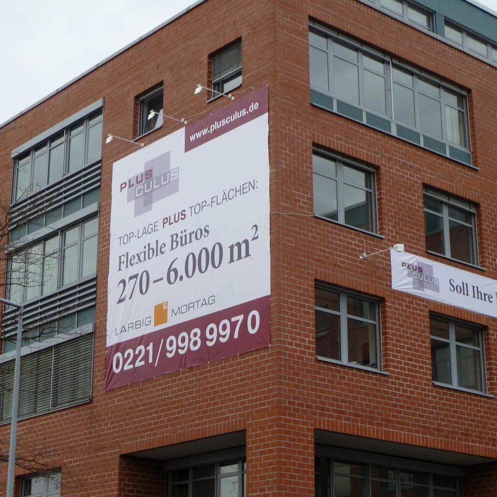 Werbebanner Immobilienmakler PVC Plane mit Druck