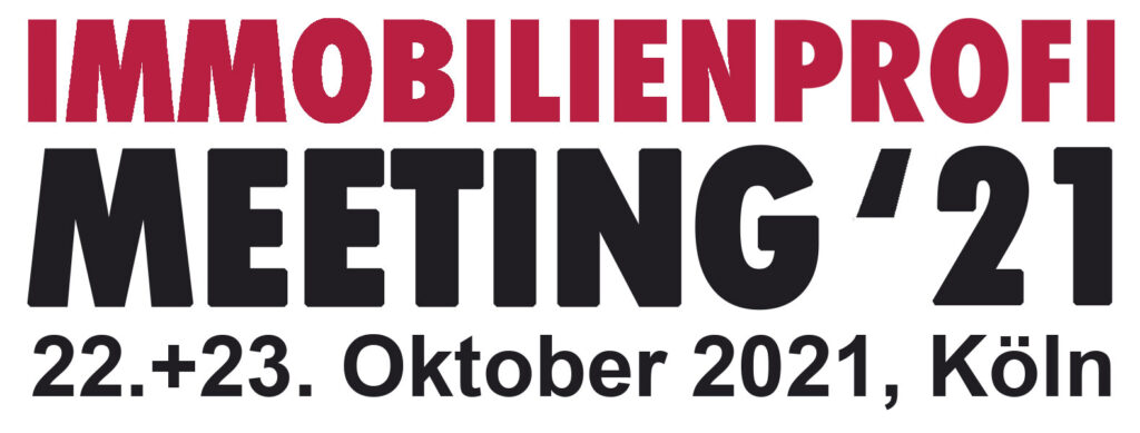 Logo Immobilienprofi Meeting 21 22. und 23. Oktober 2021 in Köln